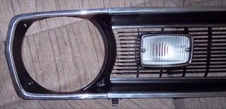 restored grille close up